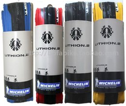 Wholesale Bicycle Tires Free Shipping - Wholesale-Free shipping Michelin Lithion 2 pieghevole folding 700x23C Road Bicycle Bike Tire Resistant Folding ultralight tyre 60TPI