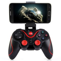 Wholesale Felt Games - Newest Phone Game Controller T3+ Wireless Bluetooth 3.0 Gamepad Gaming Controller Great Hand Feeling For Android Smartphone