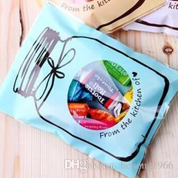 Wholesale Recycle Papers - Square Plastic Cookies Bags Cute Bottle Pattern Self Adhesive Candy Bag Moisture Proof Oil Resistant Packing Pouch Gift 2 8nt B