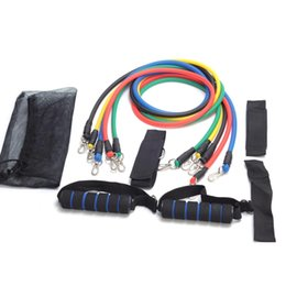 Wholesale Crossfit Resistance Bands Set - Resistance Bands Yoga Pilates Crossfit Fitness Equipment Elastic Pull Rope Workout Latex Tube Band Set Exercise