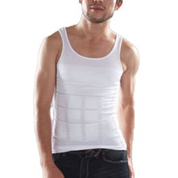 Wholesale Men S Body - Wholesale-Summer Ventilation Comfort Men Body Slimming Vest Chest And Abdomen Tight Waist Breathable Underwear