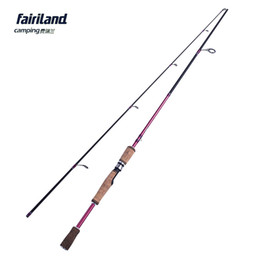 Wholesale Spinning Fishing Lure - Fairiland carbon fiber spinning fishing rod lure fishing pole 6' 6.6' 7' MH lure fish rod w  corkwood handle big game player