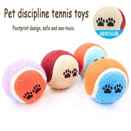 Wholesale Toys Small Rubber Balls - New Diameter 6.5 Cm Footprint Prints Non-toxic Rubber Pet Discipline Tennis Toy Small Medium-sized Dogs Favorite Ball Toys