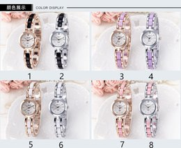 Wholesale Geneva Watches Colors - 2017NEW women geneva metal steel alloy watch fashion luxury ladies dress quartz diamond Analog gift 8 colors
