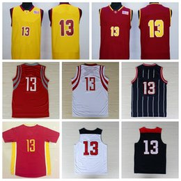 Wholesale Dreams Chinese - Men #13 Chinese Basketball Jerseys Cheap Red Pride Clutch City Retro Basket ball Sport Shirt 2014 Dream Team Wear With Player Name Team Logo