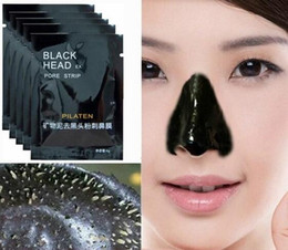Wholesale Stockings Tear - Stock! Blackhead Black Mask Face Care Treatment Cleaner PILATEN Deep Cleaning Tearing Style Pore Strip Blackhead Acne Clean Facial Face Mask