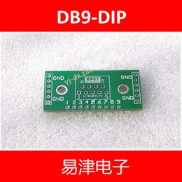 Wholesale Rs232 Uart - Wholesale-FREE SHIPPING 20PCS DB9 DR9 turn DIP UART-RS232 IC adapter Socket   Adapter plate PCB