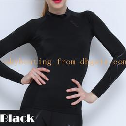Wholesale Womens Lycra T Shirts - 2XU Womens Compression Tight Tops Long Sleeve T Shirt Elastic Tops Tight-fitting Sports Tops Fitness T Shirt