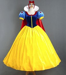 Wholesale Sexy Female Christmas Costumes - Adult snow white halloween costumes for women Snow White Princess Costume Women Sexy Dress Cosplay Costume lady girls christmas dress up