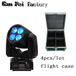 Wholesale Stage Lighting Cases - flight case 4PCS LOT High Power DMX mini 4x10w 4in1 rgbw Led Beam Moving Head Dj Stage Light