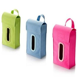 Wholesale Tissue Box Covers Wholesale - Wholesale- Hanging Cuboid Solid Tissue Box Dispenser Car Home Room Facial Napkin Box Cover smt 83