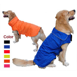 Wholesale Reflective Trim - Pet Fashion Series Dog accesseries large dog jackets waterproof Vest delicated reflective trim on collar and backsafety 6 colors 7 sizes