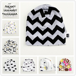 Wholesale Cap For Kids Pattern - INS Baby Caps Stylish Kid Hats Soft Cotton Autumn Winter Warm for Girls Boys Cartoon Animals Bow Donut Star Comfortable New 10 Patterns