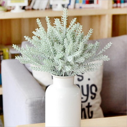 Wholesale Cheap Christmas Wreaths - Christmas Fluff Artificial Silk Flower Decoration Rustic Staghorn Leaves For Dinner Table Wedding Decoration Cheap Fake Flowers