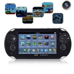 Wholesale New Mp3 Player Camera - 2017 New Arrival 4.3 Large Screen Handheld Game Player Support TV Out Put With MP3 Movie Camera Multimedia Video Game Console