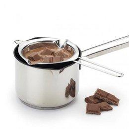 Bol chocolat en Ligne-En Acier Inoxydable Chocolat Melting Pot Double Chaudière Lait Bol Beurre De Bonbons Chauffe Pâtisserie Outils De Cuisson