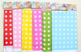 Wholesale Dot Tablecloth - Birthday Party Supplies Banquet Decoration Get Together Simple Candy Colors Dot Polka Dot Tablecloth Disposable Tablecloths