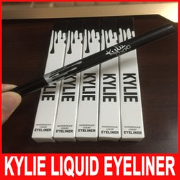 Wholesale Make Up Eyeliner Gel - Kylie liquid eyeliner Pen eye make up eyeliner pencil makeup Gel Thin Design Waterproof Eyeliner pen for KYLIE eye liners 2 Colors