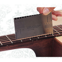 Wholesale Gauging Tools - 2018 Acoustic Electric Guitar String Action Ruler Gauge Steel Tool Setup in mm for Guitar Bass