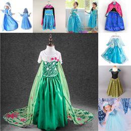 Wholesale Striped Purple Girl Dress - 2016 New Frozen Baby Girls Dress Elsa Custom Cosplay Summer Anna Girls Dresses Princess Elsa Costume for Winter Christmas Party Children Dr