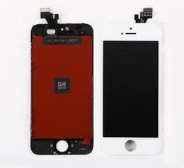 Wholesale Digitizer Iphone5 - Free Shipping Grade A+++ iPhone5 5S 5C SE LCD Screen Digitizer Assembly Display with Frame Replacement for Apple iPhone 5 5S 5C SE