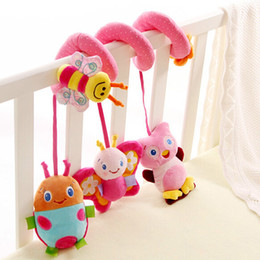 Wholesale Infant Lathe Hanging Toys - Wholesale- Lovely Infant Toys Baby Crib Revolves Around the Bed Stroller Playing Toy Car Lathe Hanging Baby Rattles for 0-3 Year Old Baby
