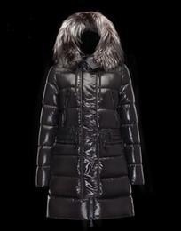 Wholesale Cheap Winter Coats For Sale - 2017 Cheap Women Winter Outdoor Thick Duck Down Coats White Male Jaqueta Long FuRs CollaR Outwear ParkA Jackets XS-XXL For Sale