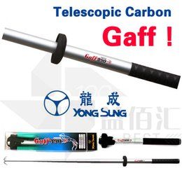 Wholesale Carbon Rod Free Shipping - Telescopic Carbon Fishing Gaff YONG SUNG Octopus Fish Rods Fishing Tackles Equipments Squid Landing Hooks New 2017 DISCOUNT FREE SHIPPING