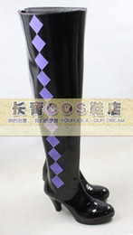 Wholesale Puella Magi Madoka - Wholesale-Puella Magi Madoka Magica Akemi Homura high hell pu ver Cosplay Boots Shoes shoe boot #CQ008 Custom made Hand made
