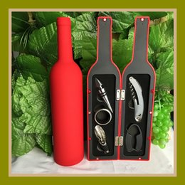 Conjuntos abridor de vinho on-line-Abridor de garrafas 5 Pcs Em Um Conjunto Vinho Tinto Saca Rolhas De Alta Qualidade Vinhos Acessórios Caixa De Presentes 16 8fh C R