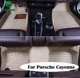 3d porsche Rabatt Top Qualität 3D Auto Fußmatte Für Porsche Cayenne Fußmatte Auto Fuß Pad 4 Farben Linke Fahrer Drop Verschiffen KF-A2243