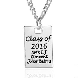 Wholesale Graduation Pendant Necklace - Graduation Gift For Teacher And Student Class Of 2016 Inspired Graduate Pendant Necklace Chram Bracelet Women Men 6