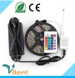 24Keys Télécommande IR Bandes LED lumière 5M Set 5050 SMD 300led 110V-240V bandes lampe étanche IP67 rouge gree ampoule blanc jaune RVB ? partir de fabricateur