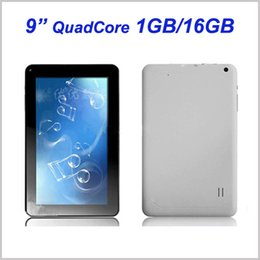 Wholesale Dual Usb White - 9 Inch Quad Core 1GB RAM 16GB ROM Allwinner A33 Android 4.4 KitKat Tablet PC 1.3GHz Dual Camera Wifi MQ5