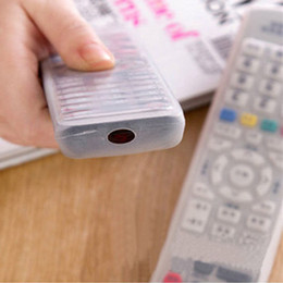 Wholesale Tv Remote Control Cover Case - Wholesale- 1Pcs Silicone TV Remote Control Cover Air Condition Control Case Waterproof Dust Protective Storage Bag Organizer