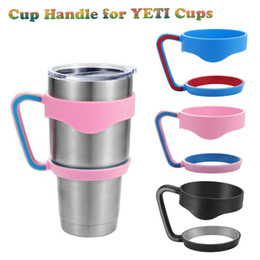 Wholesale Insulation For Cars - Cups Handle for Bilayer YETI Cups 30OZ Stainless Steel Insulation Mug Cup Cars 3Color Travel Vehicle Beer Tumblerful DHL OTH241