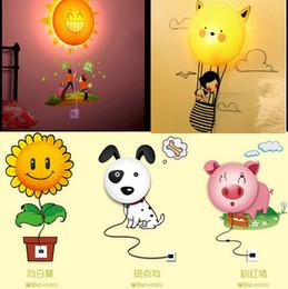 Canada 3D mur autocollant lampe 220 V nouveauté nuit lumière bande dessinée bébé DIY papier peint mur lumières décoration stickers muraux papier peint lumière livraison gratuite Offre