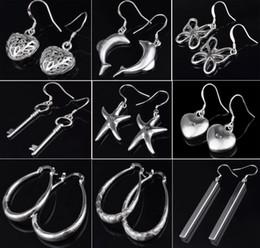 Wholesale Sterling Silver Heart Hoop Earring - Love Heart Brand Earrings for Women Jewelry High Quality Plating 925 sterling silver Ear hoop Earrings fashion gifts hyperbole big Ear ring
