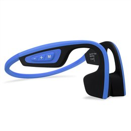 Auriculares nfc online-Lo nuevo S.Wear LF-19 Auriculares inalámbricos de conducción ósea Auriculares estéreo BT 4.1 A prueba de agua Bluetooth Correa para el cuello Auriculares NFC Manos libres