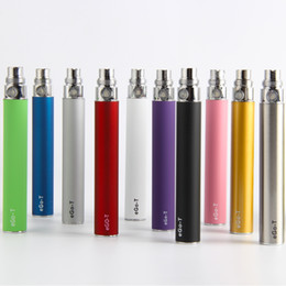 Wholesale Ego T Ce4 Ce5 - eGo ego-t battery 510 thread ecig vape pen 650 900 1100mah for ce4 ce5 ce6 mt3 h2 protank atomizers
