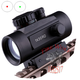 Wholesale Tactical Shotgun Red Dot Sights - 2016 New 1X30 Tactical Holographic Red Green Dot Riflescope Sight Scope for Shotgun 11mm 20mm Rifle Hunting