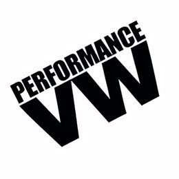 Wholesale Performance Car Stickers - Wholesale Reflective White & Black PERFORMANCE V W Logo Glue Sticker for Volkswagen VW Models Car Windows Rear Windshield Door Decal Badge