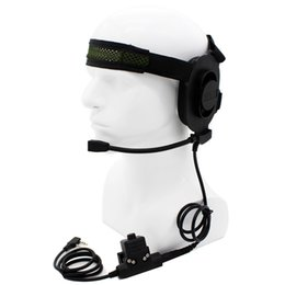 Wholesale Kenwood Ptt - Wholesale-HD01 Z Tactical Bowman Elite II Headset with U94 Style PTT for Kenwood BaoFeng UV-5R UV-82 BF-888S BF-F9 V2+ PuXing TYT KG-UV8D