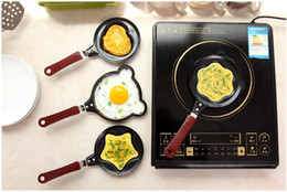 Wholesale iron fry pans - Cute Kitty Cartoon Mini Non-Stick Breakfast Omelette Pan Pancake Egg Fryer Skillet Fry Frying Pan Molds (no lids) Cookware
