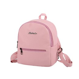 Wholesale Ladies Backpack Shopping Bags - New Small Backpack Bags Fashion Casual Women High Quality Female Rucksack Shopping Bag Ladies Famous Designer Travel School Backpacks