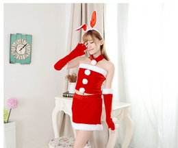 Wholesale High Quality Rabbit Costume - Rabbit ear new Christmas suit new special Christmas suit sexy appeal suit Extremely soft & high-quality velvet