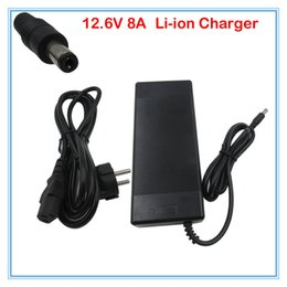 Wholesale 12v Lithium Ion Battery Packs - 12.6V 8A Lithium DC battery charger 12V 8A Power adapter 3S li-ion battery For 11.1V 12V 12.6V Lithium battery pack Charger