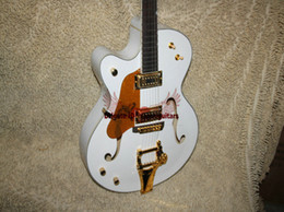 Wholesale Left Handed Hollow Body - Custom Left Handed Guitar white 6120 Electric Guitar hollow body jazz Guitar Free Shipping