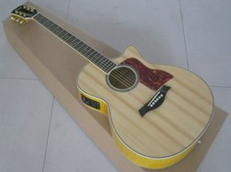 Wholesale Solid Spruce Guitar - Top Quality Abalone Inlay 916ce Solid Spruce Top Cutaway Ebony Fretboard Fishman 301 Pickup Acoustic Electric Guitar
