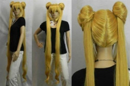 Wholesale Sailor Moon Wigs - free shipping charming beautiful new Hot sell Best Hot Sell!!! Mixed golden Sailor Moon Tsukino Usagi cosplay Party wig